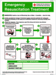 Buy First Aid – Emergence resuscitation treatment sign online