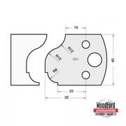 Profile 061 Spindle Moulder Cutters - 40mm Profile Knives & Limitors