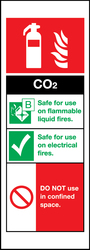 Fire Safety – CO2 Fire Extinguisher sign by Stocksigns UK