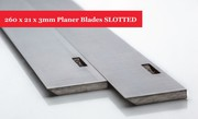 260 x 21 x 3mm Planer Blades SLOTTED for ELU Planer - 1 Pair At Online