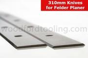 To fit Felder System Planer Blades Knives 310mm SS