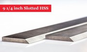 9 1/4 inch Slotted HSS Planer Blades for Multico Planer - 1 Pair